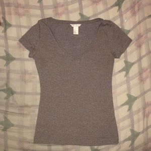H&M (XS) light brown/tan basic tee